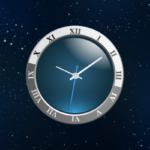clock image on a starry background