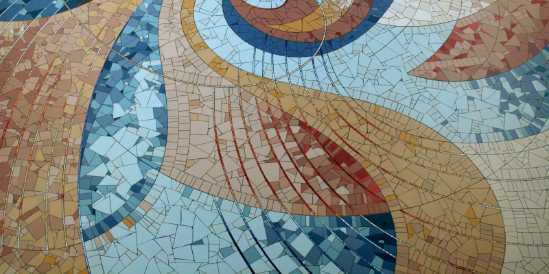 mosaic floor art from library rotunda entrance