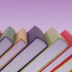 colorful books displayed in a row