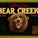 Packing label from Bear Creek Orchards