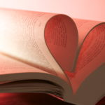book pages folded to form a heart